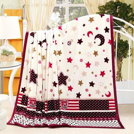 瑶行床品 包邮 云貂绒毛毯 包边加厚珊瑚绒法兰绒毯子150X200cm 法莱绒秋冬