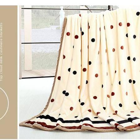瑶行床品 包邮 云貂绒毛毯 包边加厚珊瑚绒法兰绒毯子230X250cm 法莱绒秋冬