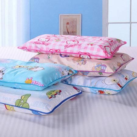 瑶行床品 包邮 送枕套 儿童决明子保健枕头1-6岁 卡通小孩枕芯幼儿园学生加长枕全纯棉