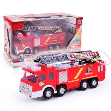 瑶行 儿童玩具 电动万向喷水消防车仿真音乐灯光