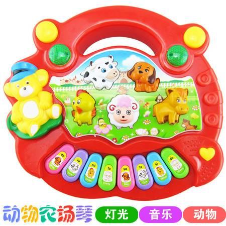 瑶行 玩具 包邮卡通动物农场音乐琴 宝宝启蒙早教益智电子琴玩具 儿童教具