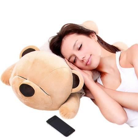 瑶行  趴趴熊音乐枕头抱枕 送女友老婆爱人朋友生日礼物