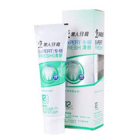 包邮 黑人牙膏专研清新/亮白牙膏120g*4支
