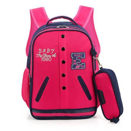 瑶行 书包 韩版小学生书包儿童书包1-6年级学生书包减负透气可爱背包 双肩包