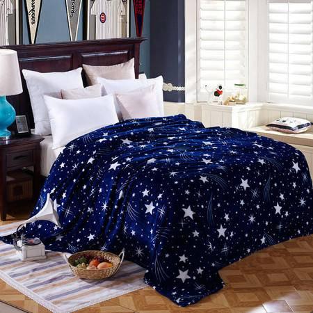 包邮 瑶行床品法兰绒毛毯 升级珊瑚绒毯子法莱绒秋冬新品礼品230X200cm