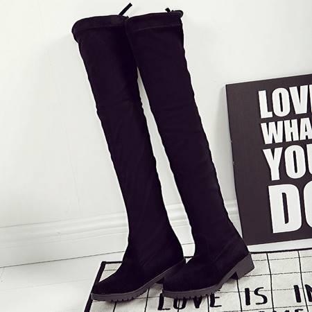 瑶行 女鞋包邮过膝靴长靴女秋冬平底高筒靴子内增高女鞋单靴瘦腿弹力靴女长筒靴