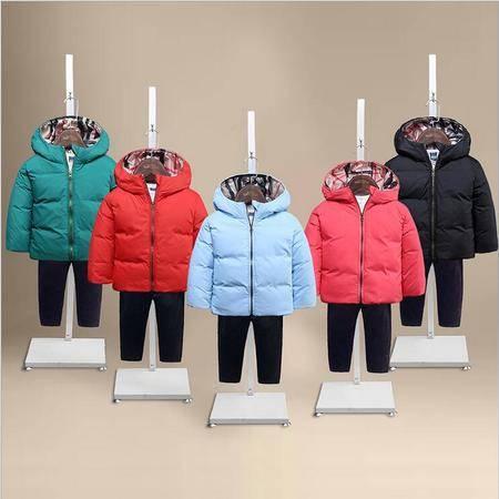 瑶行 冬季新款童装 儿童羽绒服中小童宝宝外套 男童女童保暖外套
