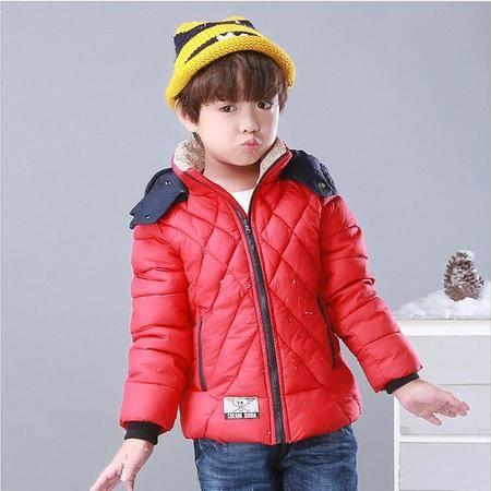 瑶行 儿童冬季新款男女中小童装宝宝棉衣棉服外套短款