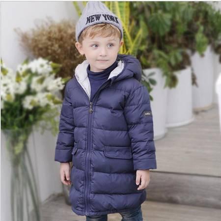 瑶行 冬季新款韩版羽绒服 加厚中长款男童女童外套