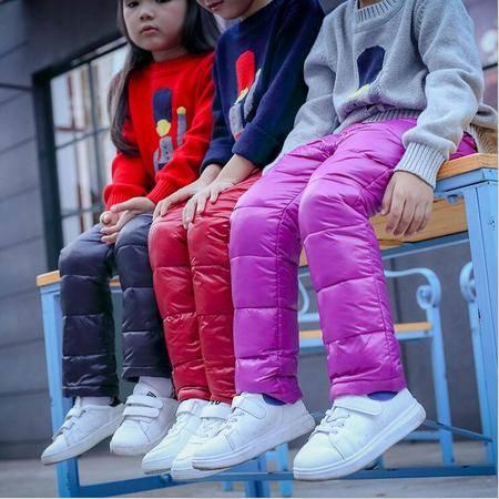 瑶行 男童冬季新款童裤 韩版中小童女童纯色长裤 时尚儿童裤子