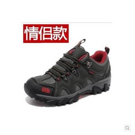 新款男鞋 运动休闲 夏 户外鞋徒步鞋登山鞋网布透气防水运动男士牛皮情侣鞋 包邮比运动鞋偏小一码