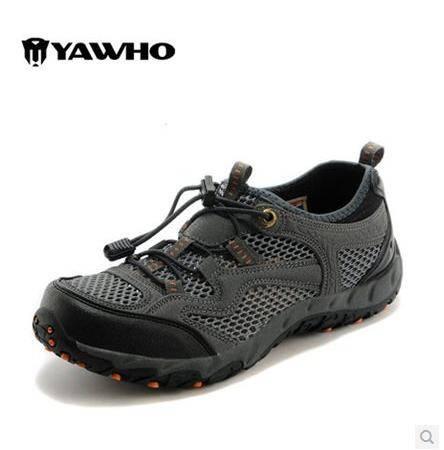 新款男鞋 运动休闲 春夏户外登山男女士情侣鞋透气网面低帮轻便运动徒步旅游鞋包邮