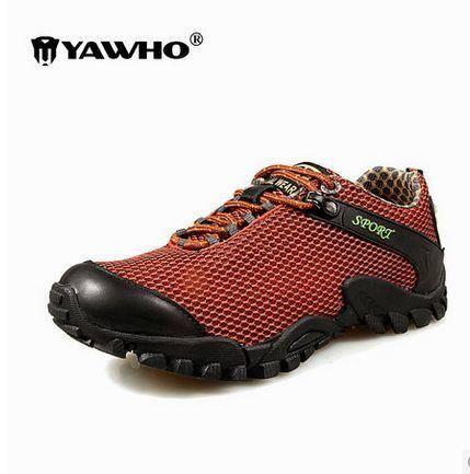 新款男鞋 运动休闲 夏  春夏户外登山男士男鞋透气网布低帮防滑运动徒步鞋旅游鞋 包邮
