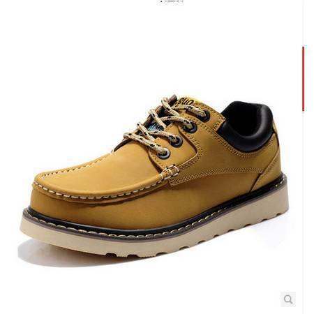 春秋男鞋潮流工装鞋男士休闲鞋真皮低帮鞋韩版大头鞋 鞋子 男 包邮