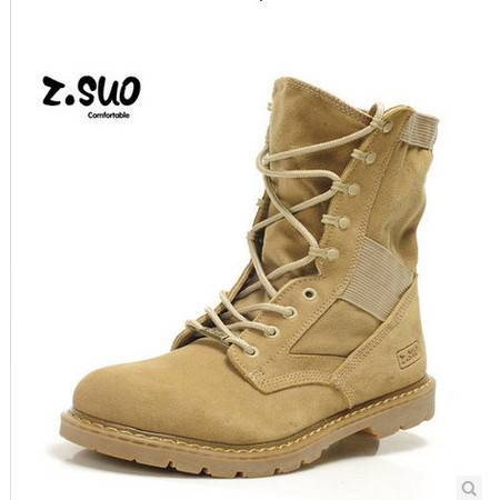 潮流男靴子军靴特种兵户外靴沙漠靴皮靴工装靴潮鞋马丁靴 男 包邮