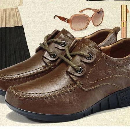 复古 坡跟摇摇鞋 休闲单鞋牛皮女鞋包邮