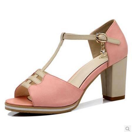 粗跟凉鞋防水台女夏凉鞋2014夏季新款女鞋鱼嘴高跟鞋包邮