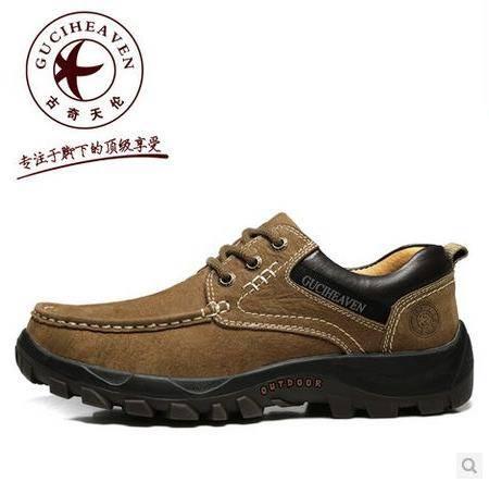 头层牛皮真皮鞋男鞋透气日常休闲运动鞋男士户外休闲鞋包邮