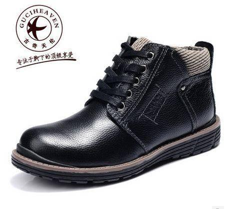 冬季 铆钉靴 工装靴 高帮鞋 牛皮男鞋包邮