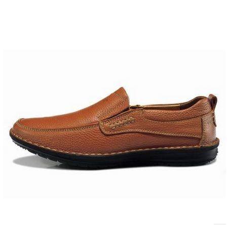英伦休闲鞋子韩版真皮低帮套鞋新款头层牛皮男鞋商务皮鞋包邮