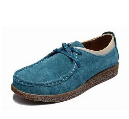 平跟平底单鞋子女低帮鞋新款牛皮豆豆鞋女式韩版休闲鞋 女鞋