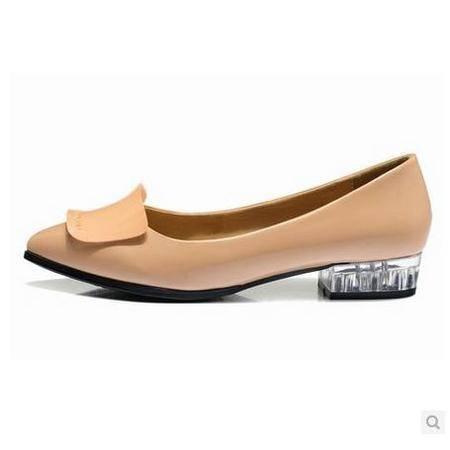 女英伦蝴蝶结女鞋 2014春季新款女鞋 尖头平跟浅口单鞋