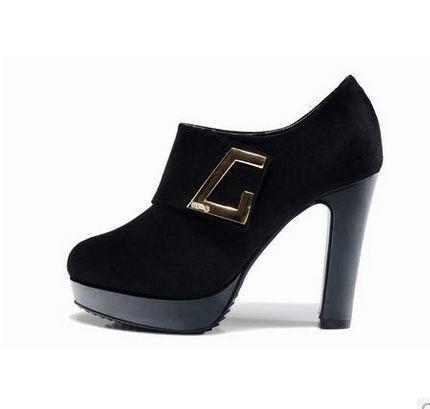 春款女鞋英伦防水台 正品高跟女单鞋时尚百搭新款包邮