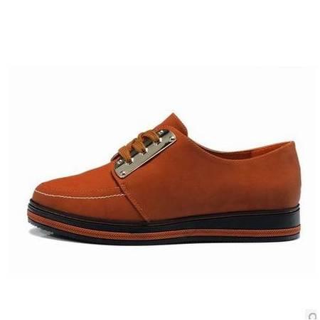 平跟厚底板鞋轻便女鞋新款休闲鞋系带女单鞋 女包邮