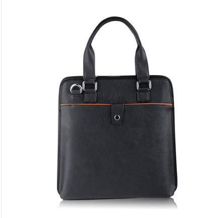 花骑OL真皮包手提包商务包男士时尚公文包正品男包头层牛皮包袋 包邮