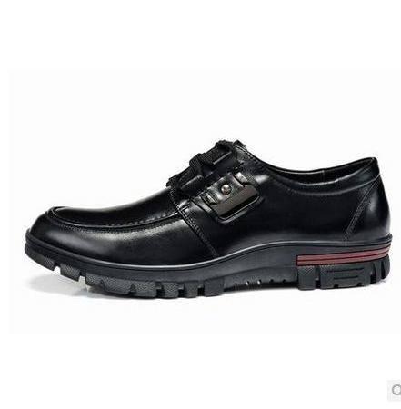 真皮皮鞋耐磨英伦低帮鞋商务休闲皮鞋头层牛皮流行男鞋包邮