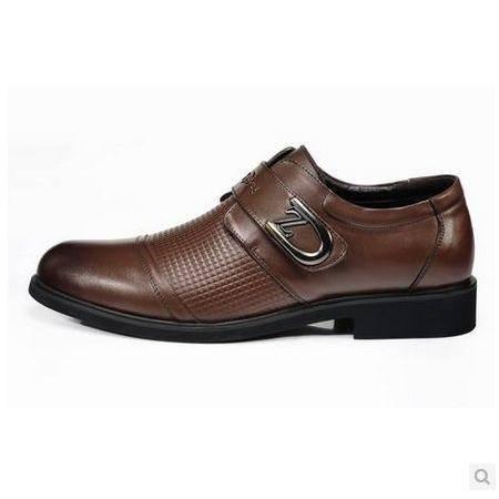 英伦牛皮皮鞋低帮鞋商务休闲鞋新款正品真皮流行男鞋包邮