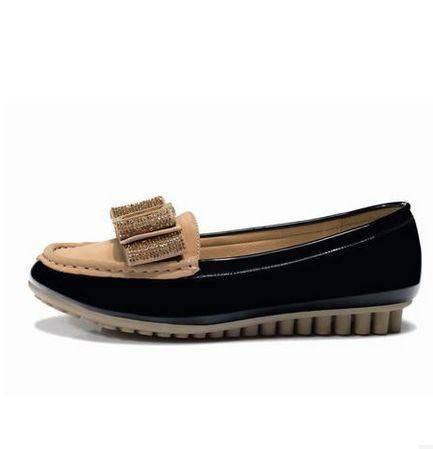 水钻厚底女低跟平底鞋欧美时尚女鞋秋季新款蝴蝶结单鞋包邮