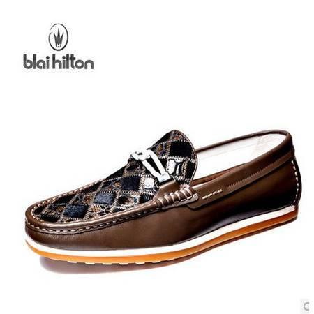 大牌真皮豆豆鞋男士休闲鞋子开车鞋纯手工缝制包邮