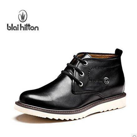 潮男休闲男鞋短靴冬季男士真皮皮靴潮流英伦高帮皮鞋包邮