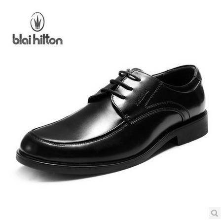 时尚真皮正品男鞋头层牛皮 男士商务增高正装皮鞋男包邮