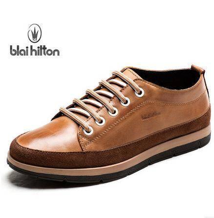 英伦板鞋潮流行时尚男鞋撞色低帮鞋真皮正品休闲鞋包邮
