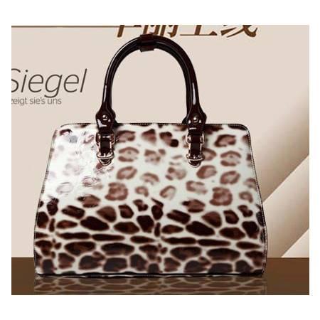 休闲手提女包新款潮流时尚 欧美撞色优雅手提包 时尚女包 手提女士包包