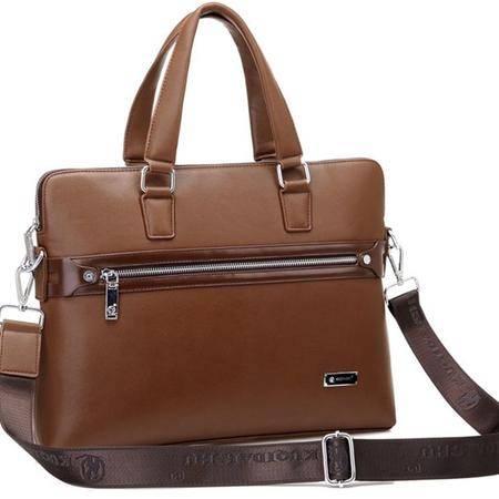 时尚男士包手提包斜跨包男包专柜正品男士皮包包邮
