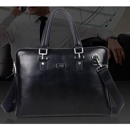 新款商务男包时尚牛皮男士手提包 笔记本电脑包 包邮731