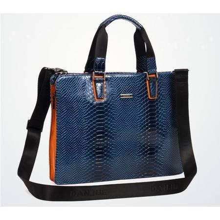 新款正品 华丽优雅蓝 公文包 手提包 单肩包 斜挎男包 包邮731