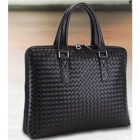 男士包包新款真皮男包时尚编织纹手提包休闲公文包 包邮801