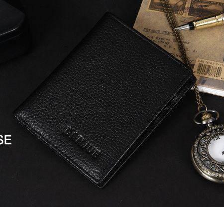 礼盒装新款正品简约设计时尚短款钱包真皮钱夹804