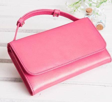 厂家直销新款韩版糖果色长款钱包甜美女士大容量手提包包潮 包邮804