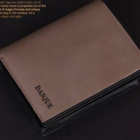 高档商务男士钱夹 礼盒装正品 真皮钱包 竖款多卡位时尚包 包邮804