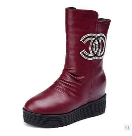 女平底马丁靴英伦风女靴子2014秋季新款春秋季女鞋中筒靴包邮0910