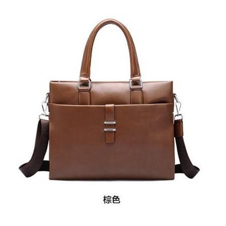 男士商务公文皮包横款爆款男包手提包单肩斜挎包电脑包包邮0911