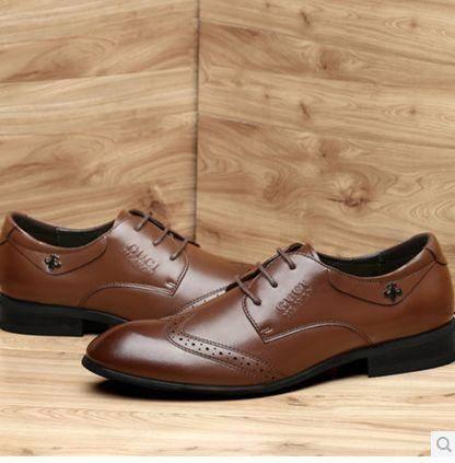 男皮鞋商务鞋头层牛皮休闲低帮鞋子2014新款包邮0912