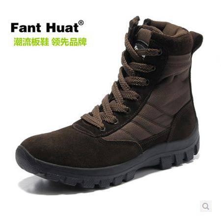 冬季休闲短筒保暖棉靴高帮男靴子 男士马丁靴时尚军靴包邮0922