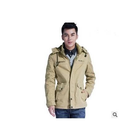 秋冬加厚中长款韩版修身男士外套棉服年棉衣男装新款包邮1023