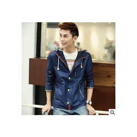 男士时尚修身潮流薄韩版外套男装秋季新款男式夹克 包邮1024